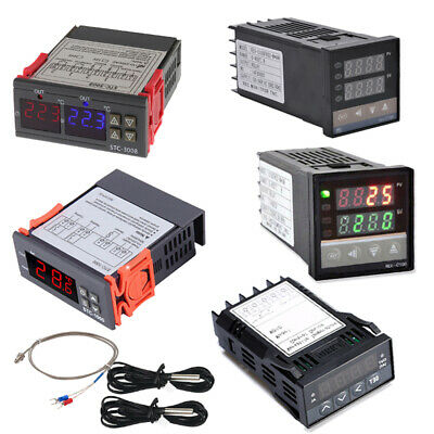 PID Digital Temperature Controller REX-C100 with K Thermocouple SSR Output