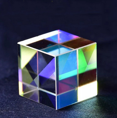 Optical Glass X-cube Dichroic Cube Prism RGB Combiner Splitter 10*10*10mm SG745