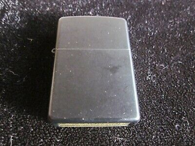 Black Zippo 2018 Cigarette Lighter heavy metal punk rock clean works free S & H