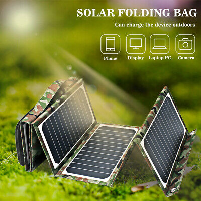 Portable 18V 40W Solar Panel Foldable Solar Charger 3 USB Power Bank Camping