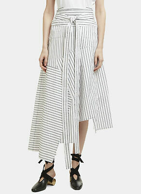 ZARA DEEP BACK HEM ASYMMETRIC FLARED CREPE MIDI SKIRT RETAIL £29.99 SIZE S-M-L