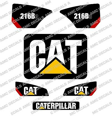 Caterpillar Cat 216B-3 Skidsteer Decal Sticker Set