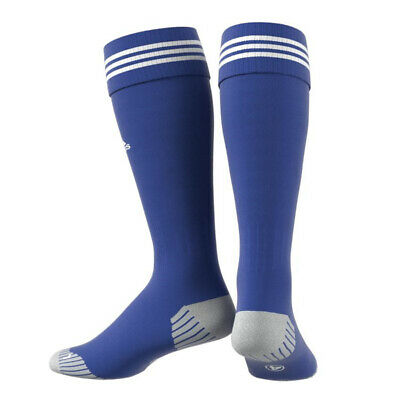 Adidas Adisock 12 Blue Soccer Socks 3 Stripe Football Size 40-42