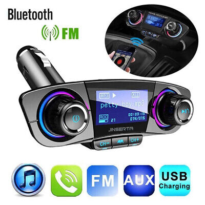 Bluetooth Kit de Voiture Transmetteur FM  Mains Libres MP3 LCD USB Chargeur