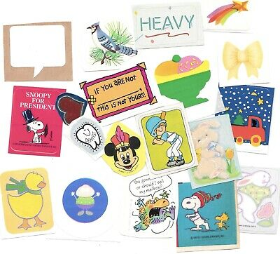 Lot of 15++ Vintage 80's Stickers (B)