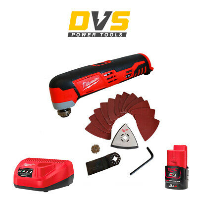 Milwaukee C12MT-0 M12 Cordless Sub Compact Multi-Tool 1 x 2Ah Battery , Charger