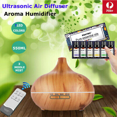 AU Remote Air Humidifier Purifier Essential Oil Diffuser Aroma Aromatherapy LED
