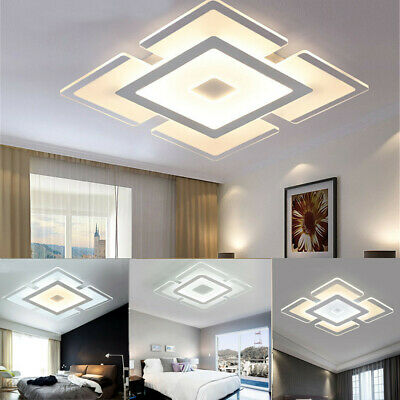 Acrylic Square LED Ceiling Light Surface Mount Lamp Living Room Bedroom Bathroom