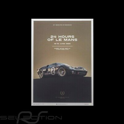 Le Mans Poster Ford GT40 MKII-A 1966 Schwarz