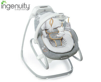 Ingenuity Boutique Collection 2-in-1 SmartSize Gliding Swing and Rocker/Bouncer