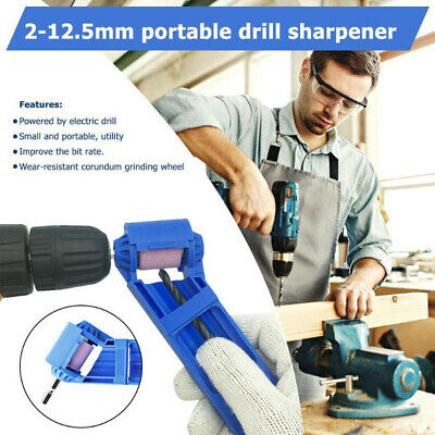 Portable Drill Bit Sharpener Corundum Grinding Wheel for Grinder Polishing Kit