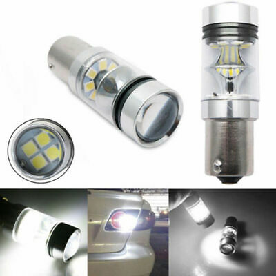 Pair 100W 1156 BA15S 382 P21W CREE XBD WHITE LED STOP REVERSE LIGHT CANBUS Bulbs
