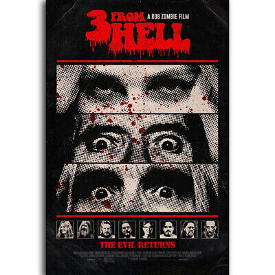 T8 3 from Hell Poster Horror Movie Sequel to The Devil's Rejects Art Silk Poster
