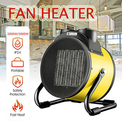 2000W/3000W Portable Electric Industrial Fan Heater Warmer Industry Workshop