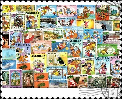 Anguilla : 50 Different Stamps Collection
