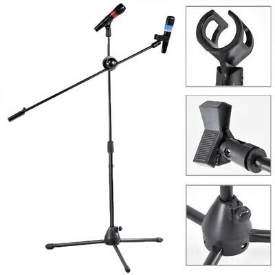 High Quality Professional Boom Microphone Mic Stand Holder Adjustable 2 Clip ME