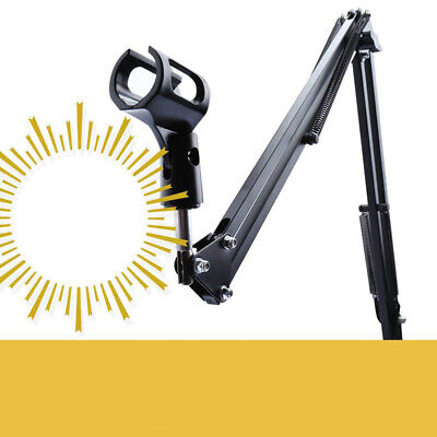 Mic Microphone Suspension Boom Scissor Arm Stand Holder for Studio Broadcast TOP