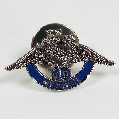 AOPA 10 Year Member Lapel Pin Tie Tack Aircraft Owners And Pilots Association