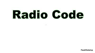 Radio Code DELPHI FAMAR FUEGUINA S.A ,code from serial GM RENAULT FIAT VW