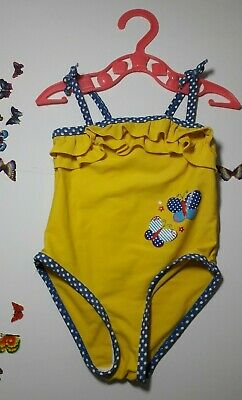 Baby Girl Clothes 9-12 Months Outfit Miniclub Yellow Swimwear Swimming Costume