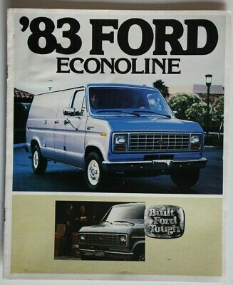 1983 FORD ECONOLINE Van Brochure with Color Chart: E