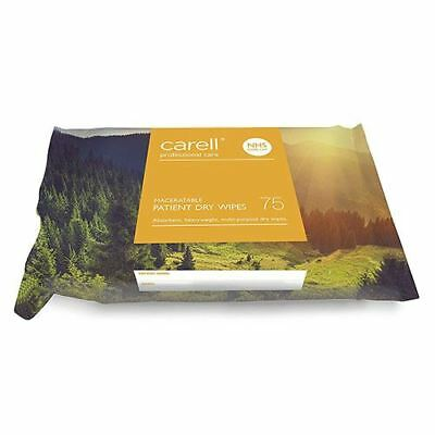 Carell Maceratable Patient Dry Wipes, Pack of 75