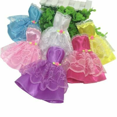 Multicolor Beautiful Handmade Fashion Clothe Dress Cute For Girl Decor Doll K1B0