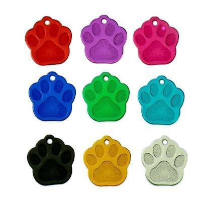 20Pcs 2 Sides Tag ID Cat Puppy Name Phone ID Tags Paw Shape Pet Dogs and Cats