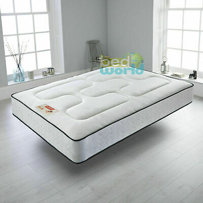 Semi Orthopeadic Memory Foam Sprung Mattress single double king size3ft 4ft6 5ft
