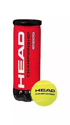HEAD Championship Tennis Balls 3 pack - Longer Lasting Felt Yellow New