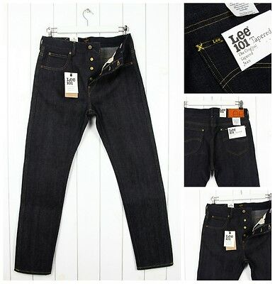 """NEW LEE 101 WORKER CHINO /""""WHITE OAK DENIM MADE IN USA/"""" SELVAGE TAPERED SLIM FIT"""