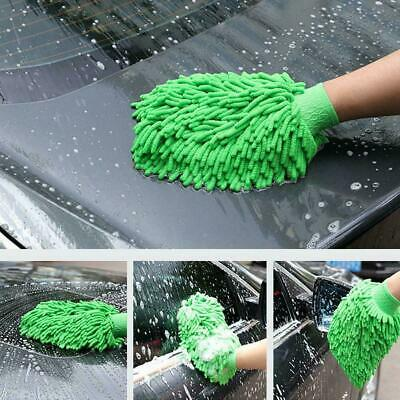 1pcs Car Wash Washing Microfiber Chenille Mitt Auto Dust Glove Cleaning Was M5V0
