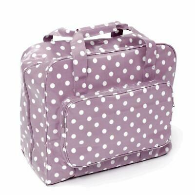 HobbyGift Sewing Machine Bag - Mauve Spot Polka Dot - PVC Storage Crafts