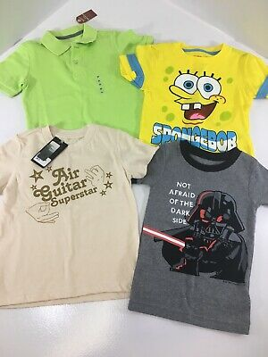 Boys Toddler 4 PC Mixed Lot Of Screen Tees And Polo Tee Multi Color 3T NWT @