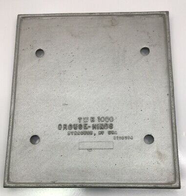 Twb1000 Crouse Hinds 6 Spaces Available Clouser Cover Kit