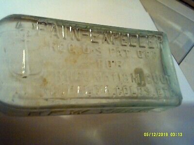 ANTIQUE F.A Richter & Co. Bottle - NEW YORK - ANCHOR PAIN EXPELLER FOR COLDS