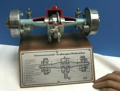 CAR [ Cross Section ] Working { Fine } Rear Axle { Differential Gears } Hohm