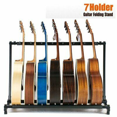 3 7 9Way Multi Guitar Stand Foldable Acoustic Electric Electric Bass Guitar Rack