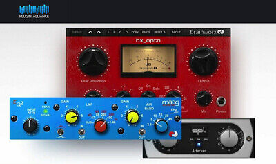 PLUGIN ALLIANCE BRAINWORX Bx_Opto, Maag Audio EQ2, & SPL Attacker