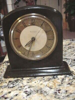 Antique/Vintage HAMMOND Wooden Electric Mantel/Shelf CLOCK~ Made in USA !