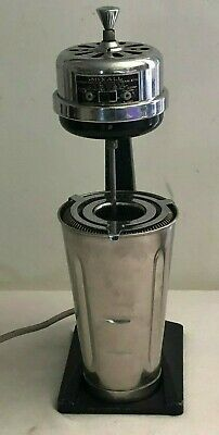 Vintage Working MIXALL Drink Mixer Chronmaster Electric Blender Retro Bar Ware