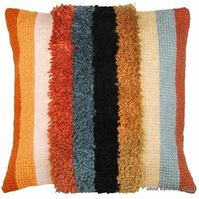Vervaco Latch hook & stitch kit cushion Boho stripes, DIY