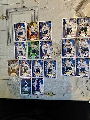 Match attax attack champions league 2018/19 Football Cards. Tottenham Spurs team