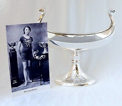 476gm Silver Swimming Trophy. Blackpool Olympic Gold Medal Winner Lucy Morton.