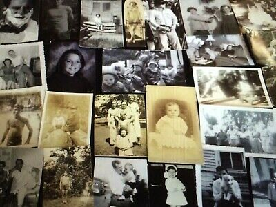 100 Found Photos Huge Lot BW Vintage Photographs Snapshots Antique Random Mix