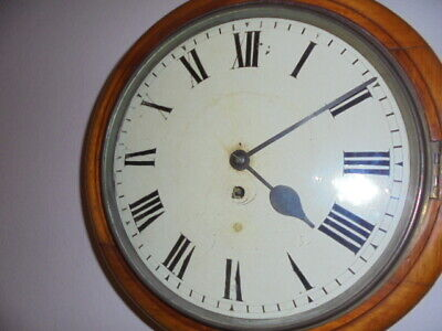 victorian fusee school  wall clock