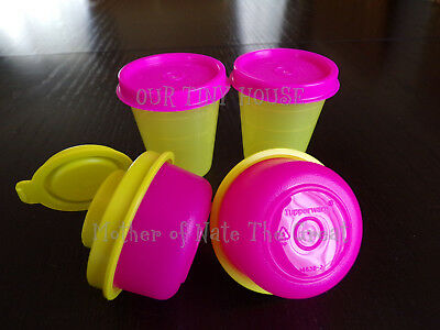 TUPPERWARE SMIDGET SALT AND PEPPER SHAKER Midgets SET Spice Mini Smidgets PINK