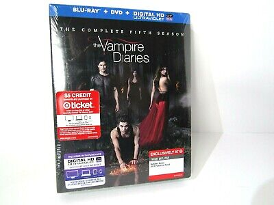 The Vampire Diaries Complete Fifth Season Blu Ray DVD Brand New Sealed