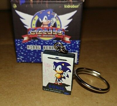 Kidrobot Sonic The Hedgehog Vinyl Keychain Mini Figure Eu Sonic Cartridge