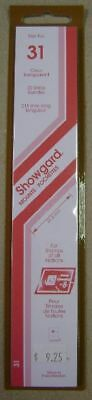 Showgard size 31 clear hingeless stamp mount NEW unopened pack 1st quality 215mm